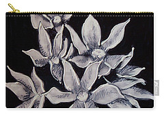 Carry-all Pouch featuring the painting Allium Moly by Kym Nicolas