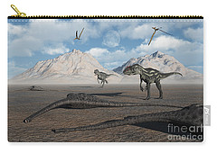 Allosaurus Dinosaurs Approach A Group Carry-all Pouch