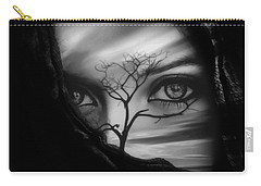 Allure Of Arabia Black Carry-all Pouch by ISAW Gallery