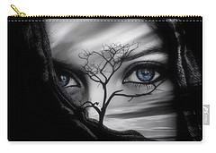 Allure Of Arabia Blue Carry-all Pouch by ISAW Gallery
