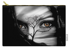 Allure Of Arabia Brown Carry-all Pouch