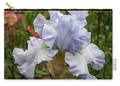 Carry-all Pouch featuring the photograph Almost Blue Bearded Iris by Jean Noren