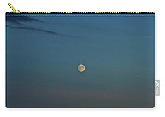 Carry-all Pouch featuring the photograph Almost Full Moon by Ann E Robson