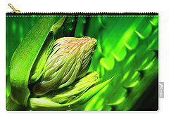 Carry-all Pouch featuring the photograph Aloe Vera 666 by Kevin Chippindall