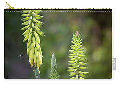 Carry-all Pouch featuring the photograph Aloe Vera Blooms by Adam Romanowicz