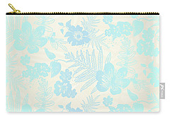 Aloha Damask Cream Aqua Carry-all Pouch