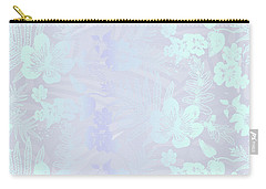 Aloha Damask Gray Aqua Carry-all Pouch