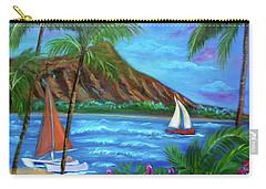 Aloha Diamond Head Carry-all Pouch by Jenny Lee