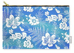 Aloha Lace Kaua'i Blue Carry-all Pouch