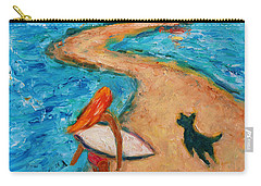 Carry-all Pouch featuring the painting Aloha Surfer by Xueling Zou