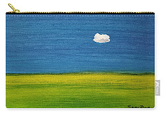 Carry-all Pouch featuring the painting Alone And Fine by Judith Rhue
