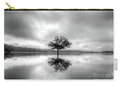 Carry-all Pouch featuring the photograph Alone Bw by Douglas Stucky