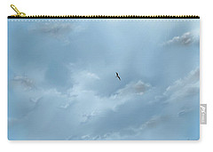 Carry-all Pouch featuring the digital art Alone by Darren Cannell