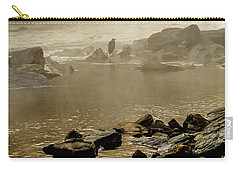 Carry-all Pouch featuring the photograph Alone In The Mist by Iris Greenwell