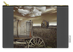 Alone On The Plains Carry-all Pouch by Jeff Burgess