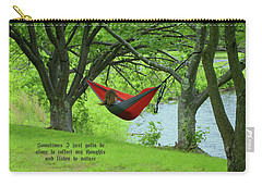 Alone With My Thoughts Carry-all Pouch by Dennis Baswell