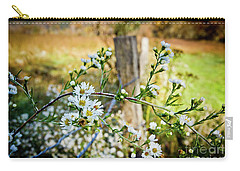 Carry-all Pouch featuring the photograph Along A Fence Row by Douglas Stucky