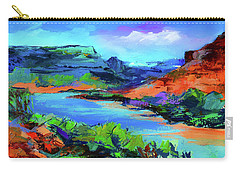 Along Colorado River - Utah Carry-all Pouch by Elise Palmigiani