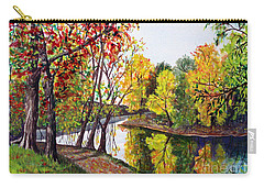 Along The Blanchard Carry-all Pouch by Nancy Cupp