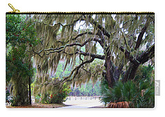 Carry-all Pouch featuring the photograph Along The Path by Kathryn Meyer