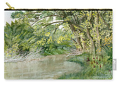 Carry-all Pouch featuring the painting Along The Susquehanna by Melly Terpening
