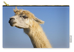 Carry-all Pouch featuring the photograph Alpaca by Skip Hunt