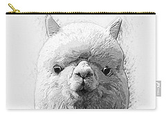 Carry-all Pouch featuring the digital art Alpaca  by Taylan Apukovska