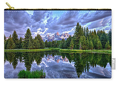 Alpenglow In The Tetons Carry-all Pouch