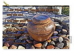 Carry-all Pouch featuring the photograph Alpha And Omega by Larry Bishop