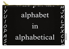 Alphabet 101 Carry-all Pouch by George Bostian