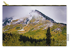 Carry-all Pouch featuring the photograph Alpine Loop Autumn Storm - Wasatch Mountains  by Gary Whitton