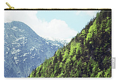 Alpine View In Green Carry-all Pouch