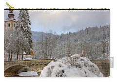 Carry-all Pouch featuring the photograph Alpine Winter Beauty by Ian Middleton