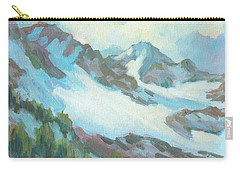 Carry-all Pouch featuring the painting Alps In Switzerland by Diane McClary