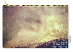 Carry-all Pouch featuring the photograph Alps With Dramatic Sky by Silvia Ganora