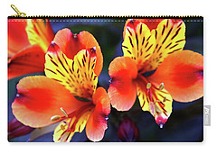 Alstroemeria Indian Summer Carry-all Pouch by Stephen Melia