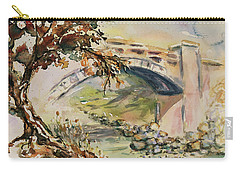 Carry-all Pouch featuring the painting Alum Rock Park California Landscape 5 by Xueling Zou