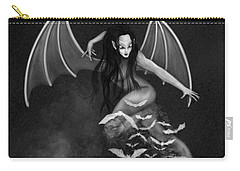 Always Awake - Black And White Fantasy Art Carry-all Pouch