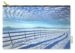 Carry-all Pouch featuring the photograph Always Whiter On The Other Side Of The Fence by Phil Koch