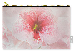 Carry-all Pouch featuring the photograph Amaryllis 'purple Rain' II by Ann Jacobson