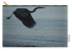 Amazing Flying Great Blue Heron Carry-all Pouch by DejaVu Designs