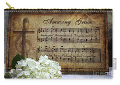 Carry-all Pouch featuring the photograph Amazing Grace - Christian Home Art by Ella Kaye Dickey