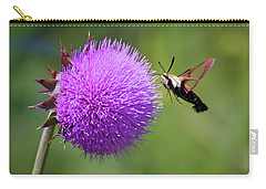 Carry-all Pouch featuring the photograph Amazing Insects - Hummingbird Moth by Kerri Farley