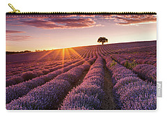 Amazing Lavender Field At Sunset Carry-all Pouch