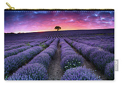 Amazing Lavender Field With A Tree Carry-all Pouch