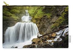 Amazing Mountain Waterfall Near Farchant Village At Garmisch Partenkirchen, Farchant, Bavaria, Germany. Carry-all Pouch