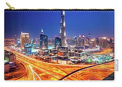 Amazing Night Dubai Downtown Skyline, Dubai, United Arab Emirates Carry-all Pouch