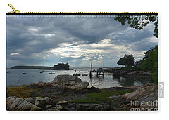 Amazing Silhouetted Views Of Little Bustin's Island Carry-all Pouch by DejaVu Designs