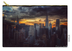 Amazing Skyline Of Manhattan - New York City Carry-all Pouch by Miriam Danar