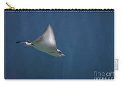 Amazing Stingray Underwater In The Deep Blue Sea  Carry-all Pouch